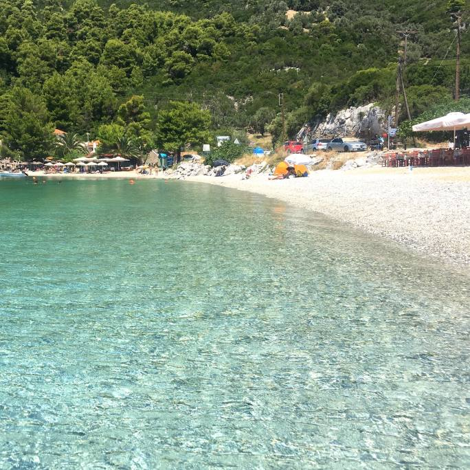 Panormos Beach on Skopelos Island Greece